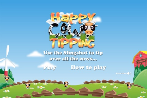 Happy Cow Tipping Game screenshot 1