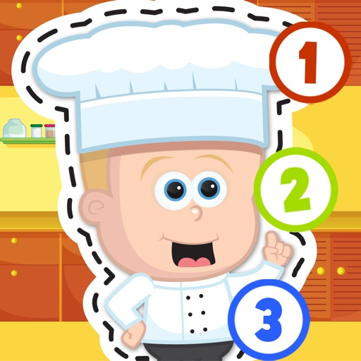 Kids Cooking Puzzle Teach me Tracing & Counting - Learn about the kitchen and how to cook your favorite food like a mini chef iOS App