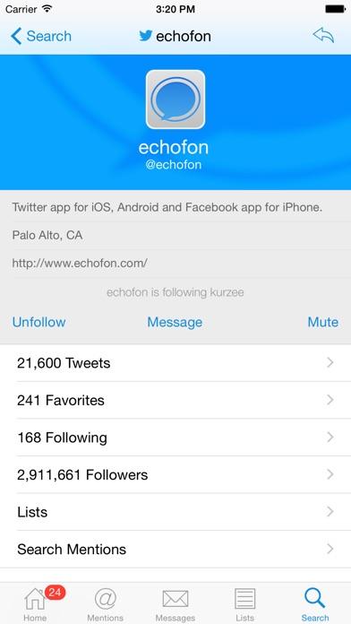 Echofon Pro for Twitter screenshot1