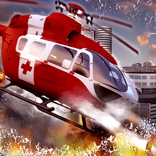 Helicopter Fire Rescue Simulator iOS App