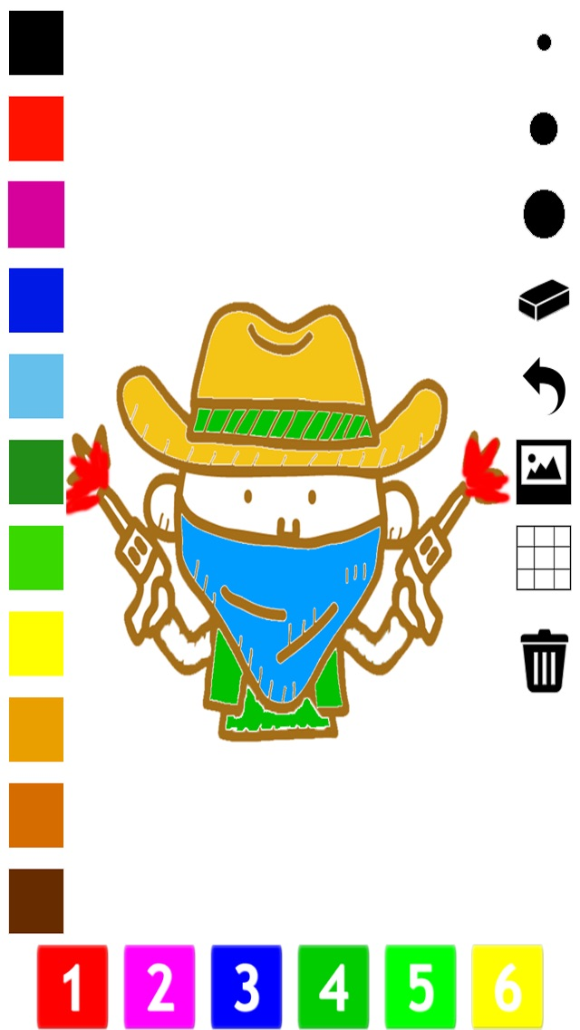 Screenshot of Un Libro da Colorare del Selvaggio West Per i Bambini: Impara a Dipingere Cowboy e Nativi Americani1