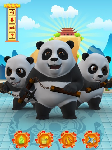 Talking Bruce the Panda for iPad Скриншоты2