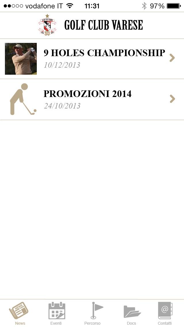 Screenshot of Golf Club Varese2