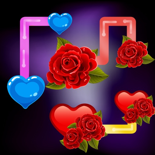Best valentine flow: challenging addictive puzzle game. Think and connect your lovely heart iOS App