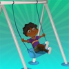 A Find the Shadow Game for Children: Learn and Play with Children at a Playground children