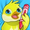 Attivo! Libro da Colorare Degli Uccelli Per Bambini: Come Immagini Pinguino, Anatra, Civetta, Fenicottero e Pappagallo