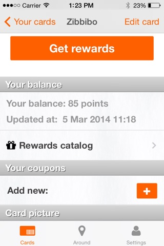 Quomai, loyalty and rewards cards screenshot 2