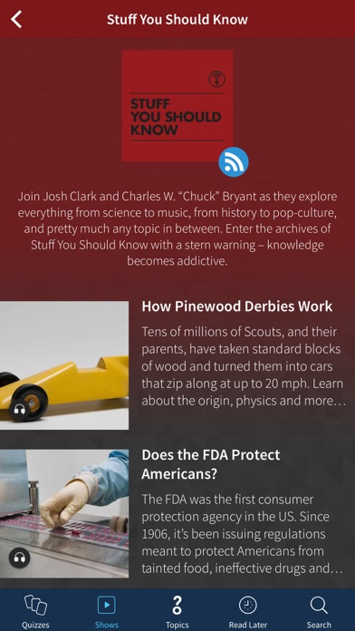 Screenshot 0 for HowStuffWorks's iPhone app'