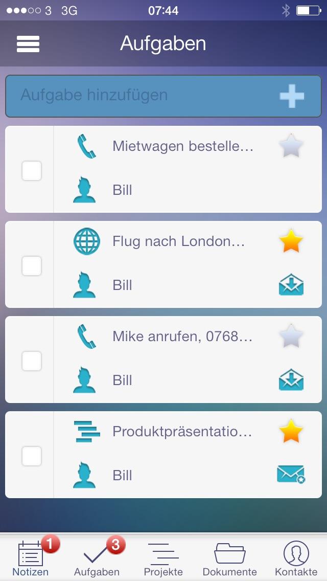 Screenshot von To-Do, Aufgaben, Projekte, Dokumente und Zusammenarbeit im Team1
