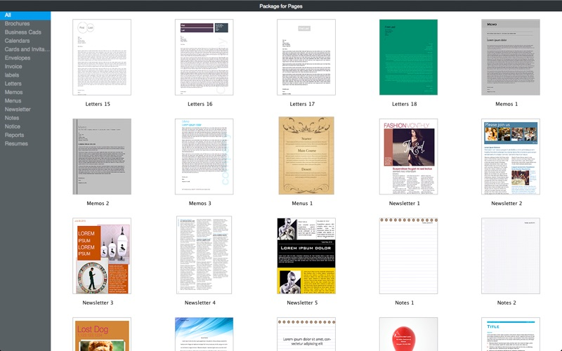 Templates for Pages by Fututime Screenshot - 1
