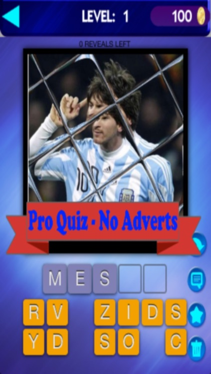 Guess The Tiled Star Footballers Quiz Pro - World Soccer Players Faces Game  - Ad Free App by Wicked Fun Games