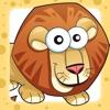 兒童遊戲2-5歲左右大草原的動物:遊戲和拼圖的幼兒園,學前班或幼兒園與獅子,大象,鱷魚,河馬,猴子和鸚鵡在叢林,野生動物園或沙漠!