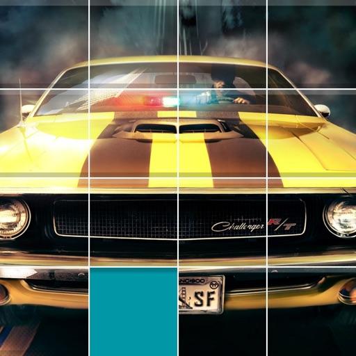 Muscle Cars Sliding Jigsaw iOS App
