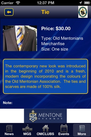 Old Mentonians Association screenshot 4