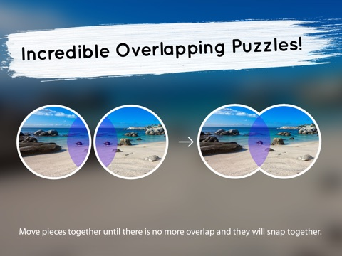 Venn Beaches: Overlapping Jigsaw Puzzles Screenshot