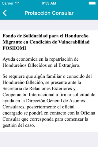 Embajada de Honduras en U.S. screenshot 3