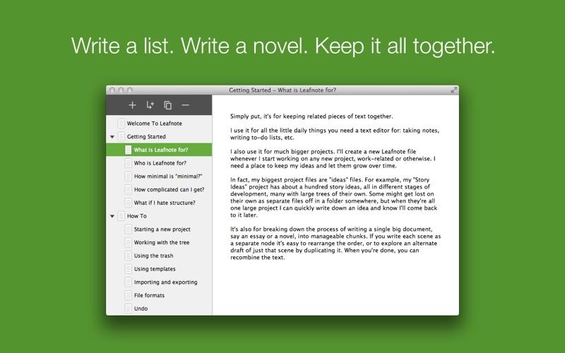Leafnote Screenshot