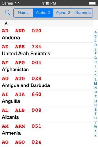 ISO 3166 screenshot 3