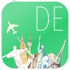 Germany Offline map & flights. Airline tickets, airports, car rental, hotels booking. Free navigation.
