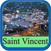 Saint Vincent and the Grenadines Island Offline Map Travel Guide