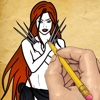 Drawing Lessons SuperHeroes Women