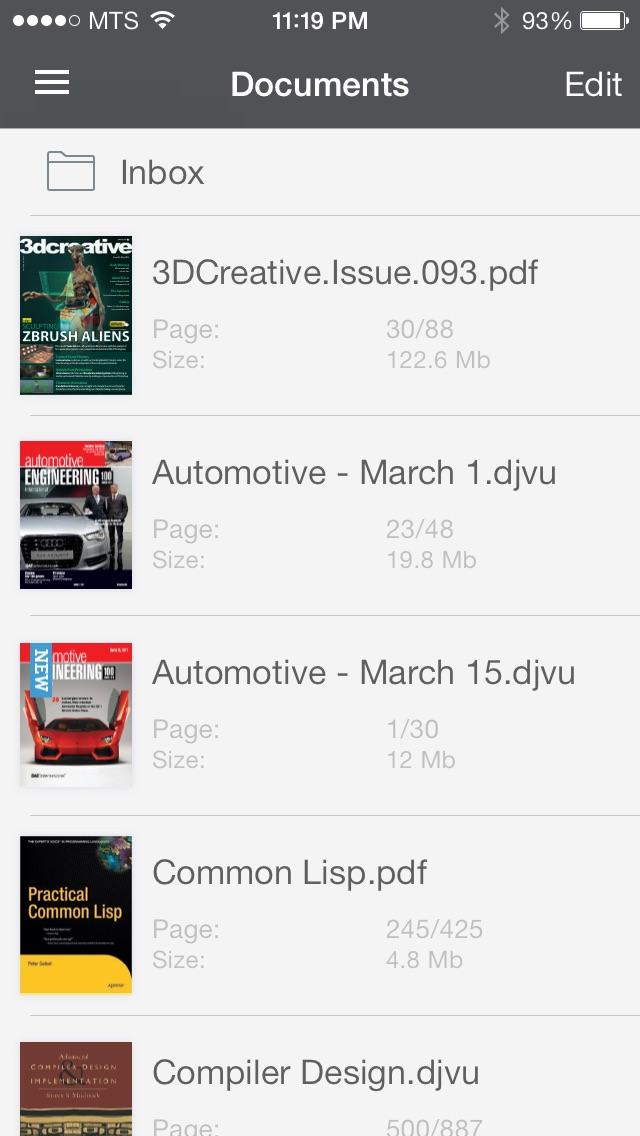 Screenshot #1 pour DjVu Book Reader for iPhone