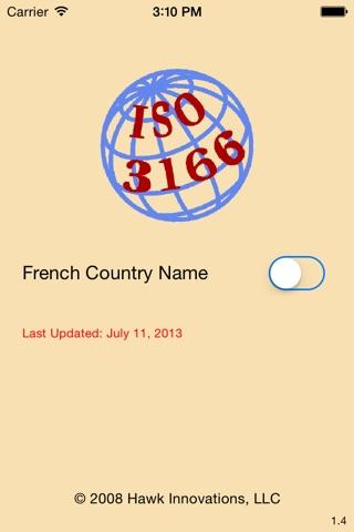 ISO 3166 screenshot 1