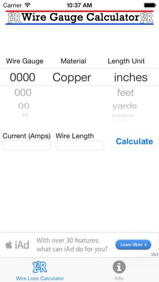 Wire gauge current length calculator gallery wiring table and wire gauge calculator lite on the app store iphone screenshot keyboard keysfo gallery greentooth Image collections