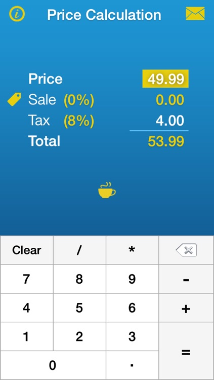 sales tax discount tip calculator price calculation by
