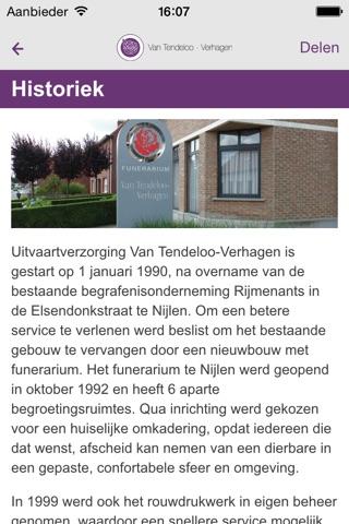 Uitvaartverzorging Van Tendeloo-Verhagen screenshot 3