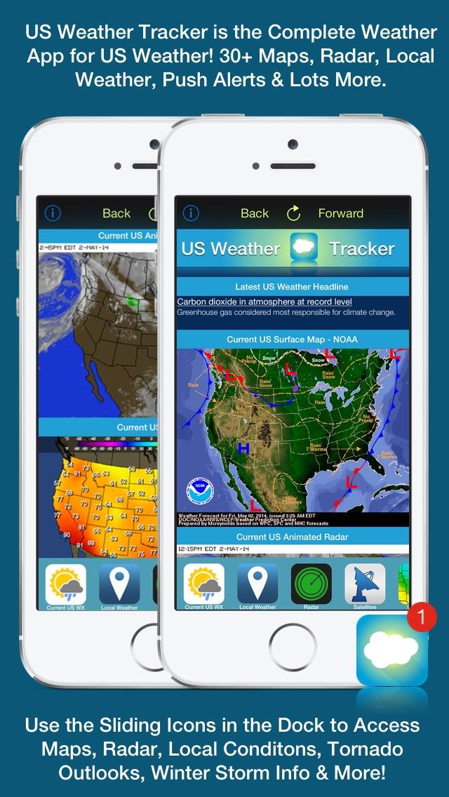 Screenshot #1 for US Weather Tracker - Weather Maps, Radar, Severe & Tornado Outlook & NOAA Forecast