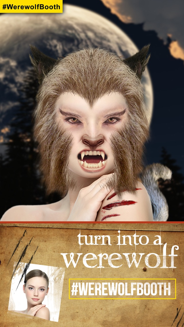 WerewolfBooth: Turn yourself into a True Werewolf (New Monster Photo/Pic Booth & Blood Cam for Instagram)Screenshot of 1