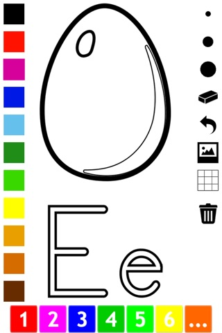 ABC Coloring Book for Toddlers: Learn to color and write the English letters of the alphabet screenshot 4