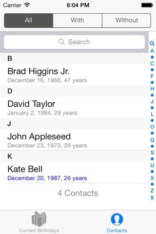 Birthday Reminders screenshot 3