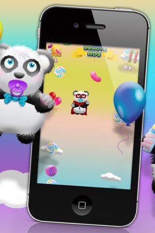 Baby Panda Bears Candy Rain - A Fun Kids Jumping Edition FREE Game! screenshot 4