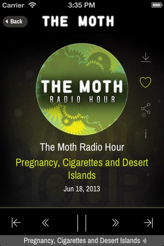 The Moth screenshot 2