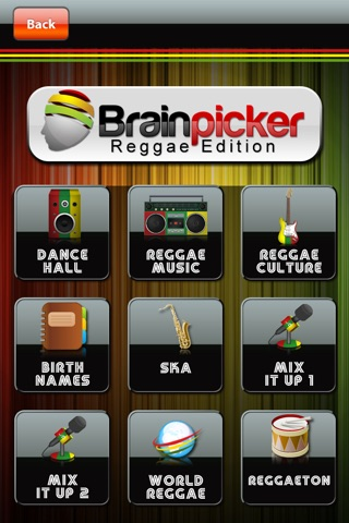 BrainPicker Trivia : Reggae Edition screenshot 2