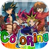 Coloring Book Anime & Manga Painting on Photos Free Yu-Gi-Oh Edition