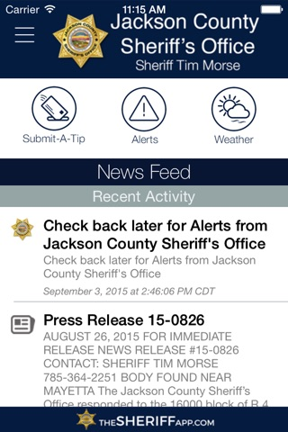 Jackson County Sheriff's Office KS screenshot 1