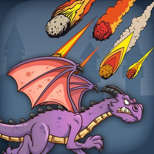 Dragon VS Fire Ball - PRO - Flying Lizard Armor Meteoric Invaders iOS App
