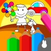 kids coloring book games - free Preschool learning graffiti