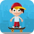 Jack The Jumpy Skateboard Kid - Red cap boy escape game with 8-bit graphics
