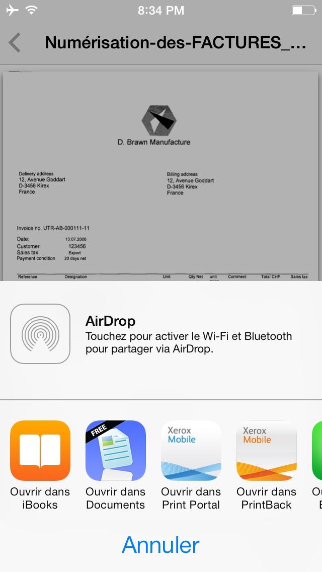 Xerox® Mobile Client for DocuShare®Capture d'écran de 5