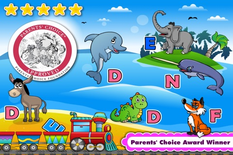 Kindergarten Phonics Island Adventure - Learn to Read Montessori Games with Puzzle Animal Train for Kids Hooked on Reading by Abby Monkey® screenshot 1
