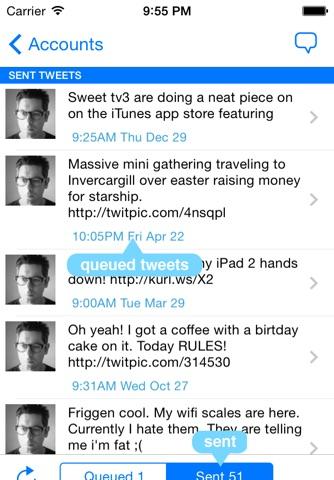 Tweetr - Schedule tweets for Twitter - Your Social Media Management Tool screenshot 2