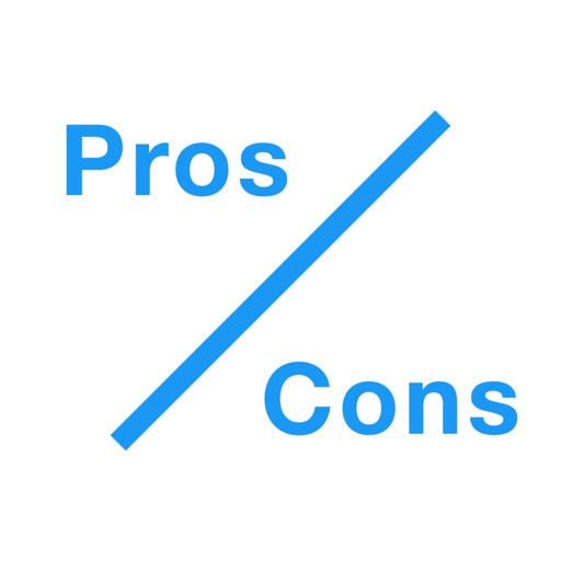 Pros and Cons - The Easy Way To Make Decisions iOS App