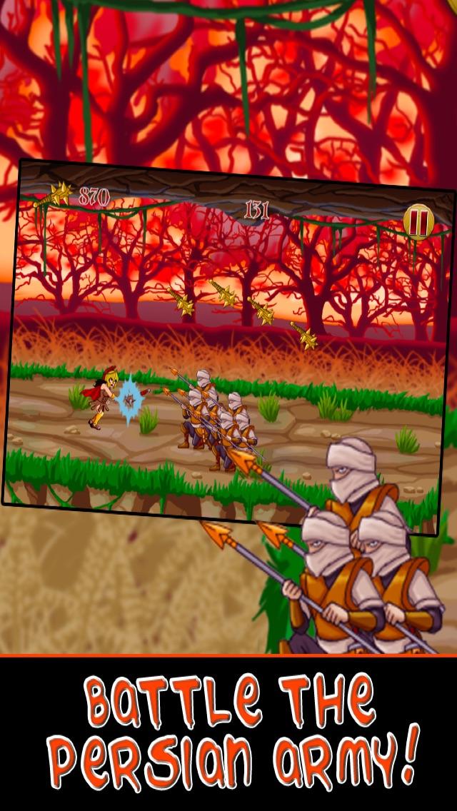 Спартанские войны Run Битва бессмертных воинов Империи - бесплатно для iPhone и издание IpadСкриншоты 2
