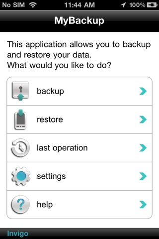 MYBACKUP screenshot 1