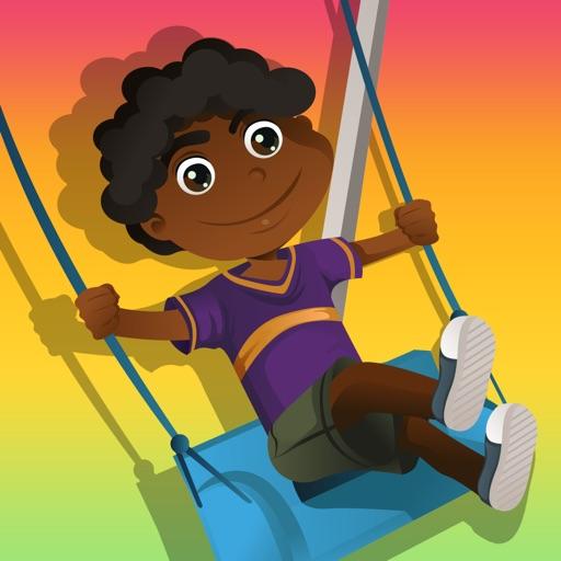 Actif! Jeu de l'aire de jeux pour enfants et amis pour apprendre