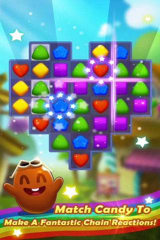 Sugar Sweet Crunch - Race and Match 3 Puzzle Blast game screenshot 1